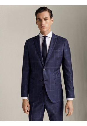 """KARIERTER HALF-CANVAS-BLAZER AUS WOLLE """"SUPER 110"""" IM SLIM-FIT 0 - Suit jacket - blue"""