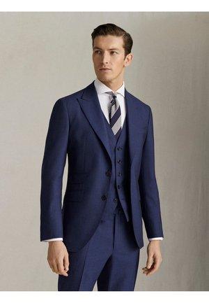 """HALF-CANVAS-BLAZER MIT STRUKTURMUSTER AUS WOLLE """"SUPER 120"""" IM S - Blazer jacket - blue"""