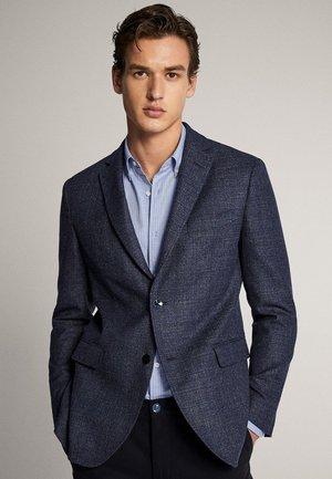 SLIM-FIT-BLAZER AUS WOLLE 02041253 - Blazer jacket - blue