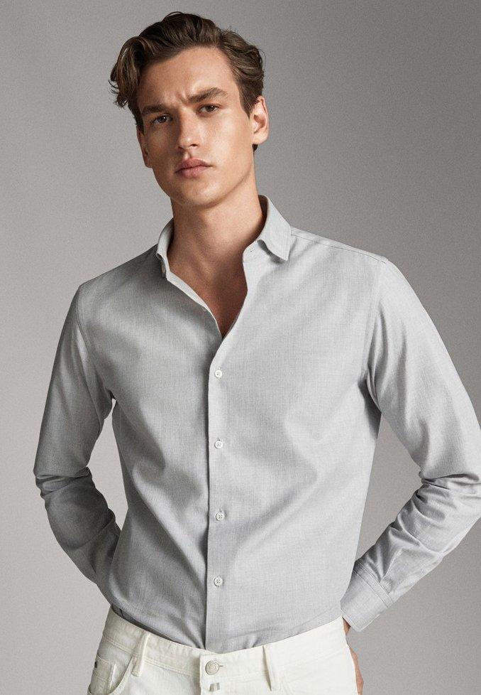 Massimo Dutti - Shirt - grey