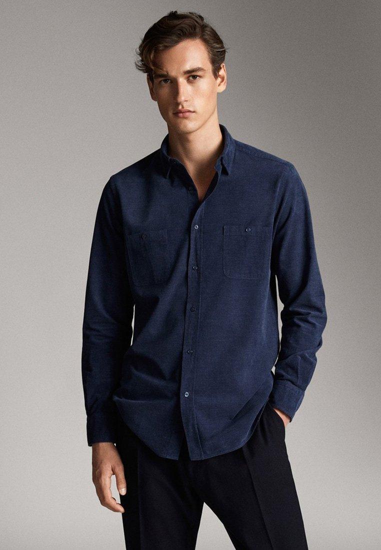 Massimo Dutti - MIT TASCHEN - Koszula - blue