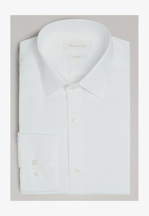 SLIM-FIT-HEMD AUS BAUMWOLLE MIT WABENSTRUKTUR 00163263 - Koszula biznesowa - white