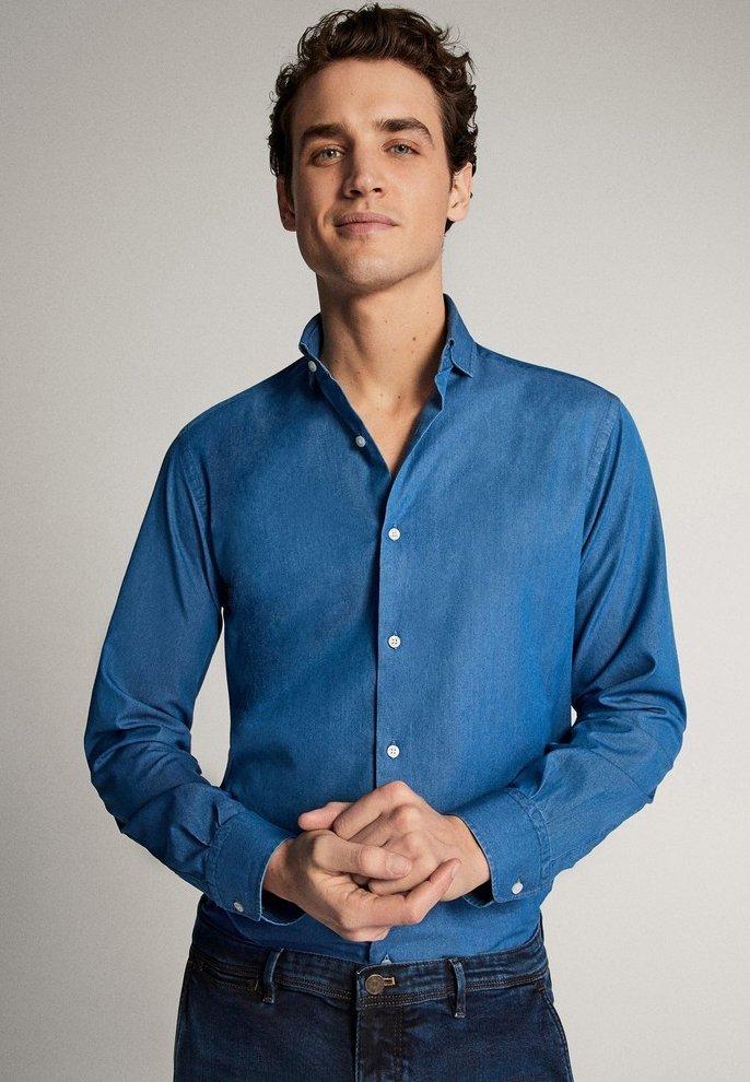 Massimo Dutti - JEANSHEMD AUS BAUMWOLLE IM SLIM-FIT 00164164 - Skjorta - blue