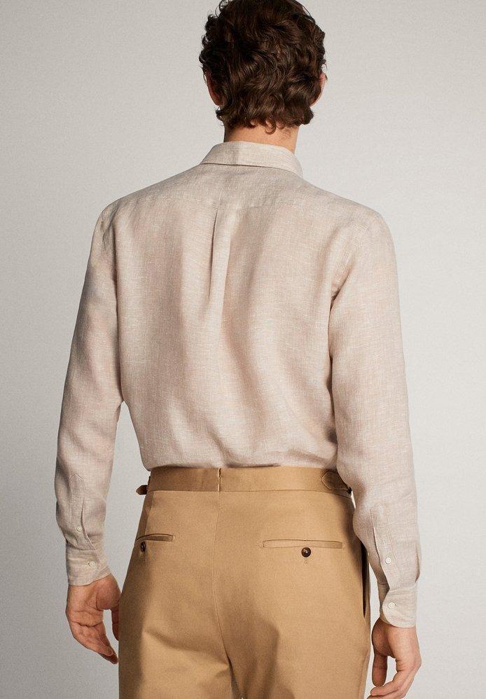 Massimo Dutti Im Regular-fit - Skjorta Beige