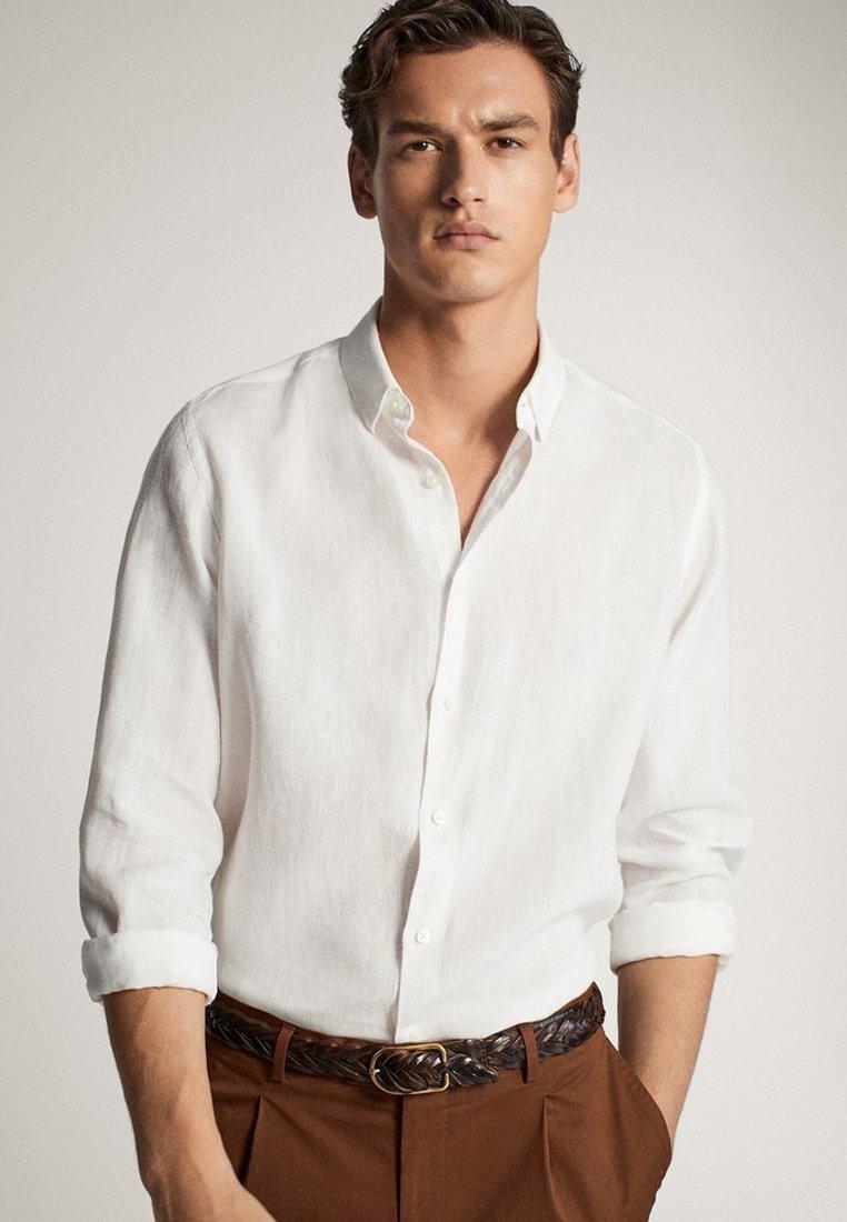 Massimo Dutti SLIM-FIT - Koszula - white