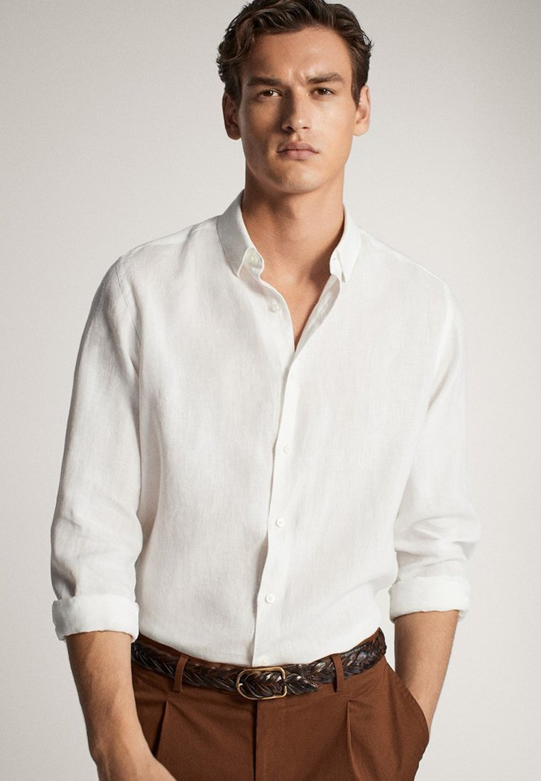 Massimo Dutti - SLIM-FIT - Koszula - white