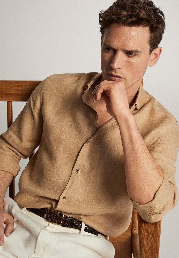 Massimo Dutti IM SLIM-FIT - Camicia elegante - brown