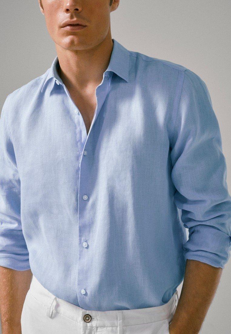Massimo Dutti - SLIM-FIT - Shirt - blue