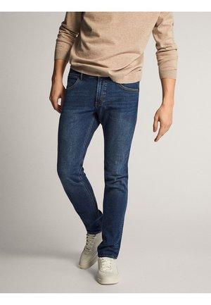 MIT STRUKTURMUSTER  - Jeans slim fit - blue