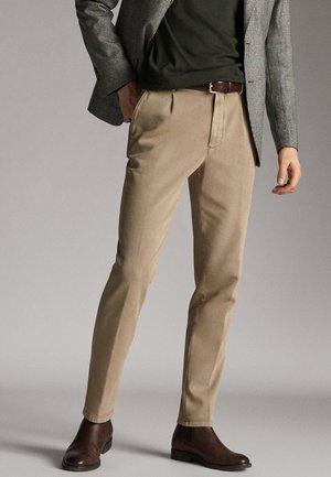 MASSIMO DUTTI - Spodnie materiałowe - ochre