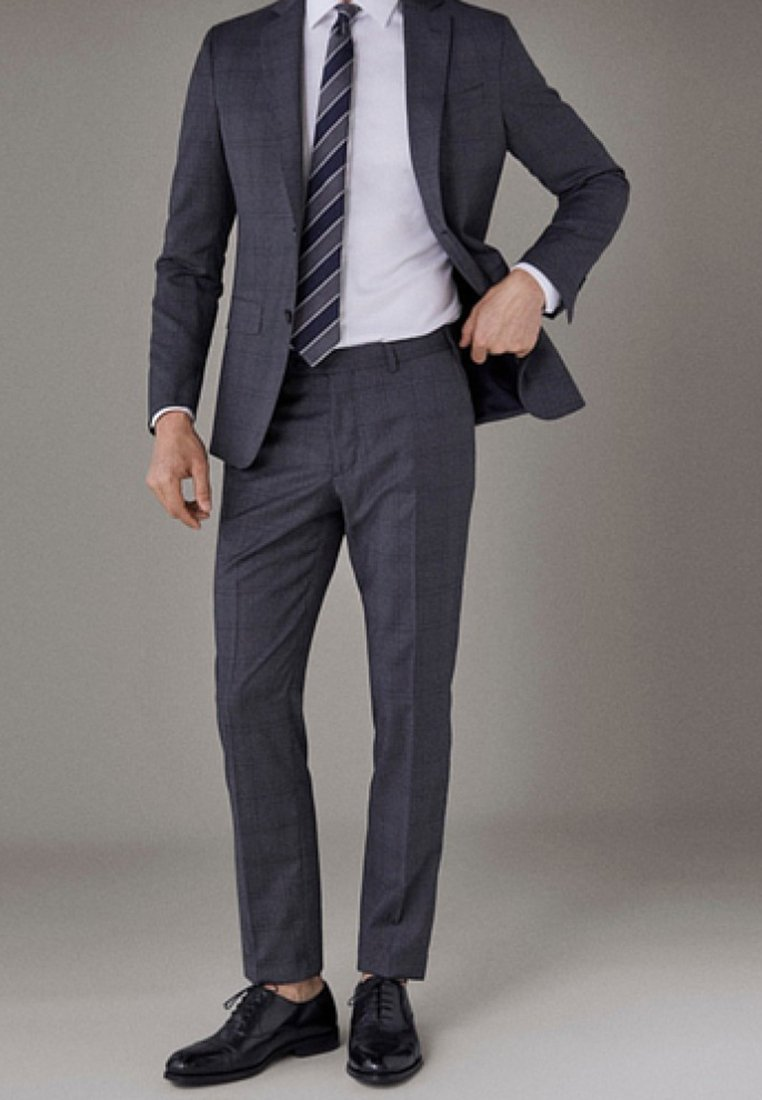 Massimo Dutti - Suit trousers - dark grey