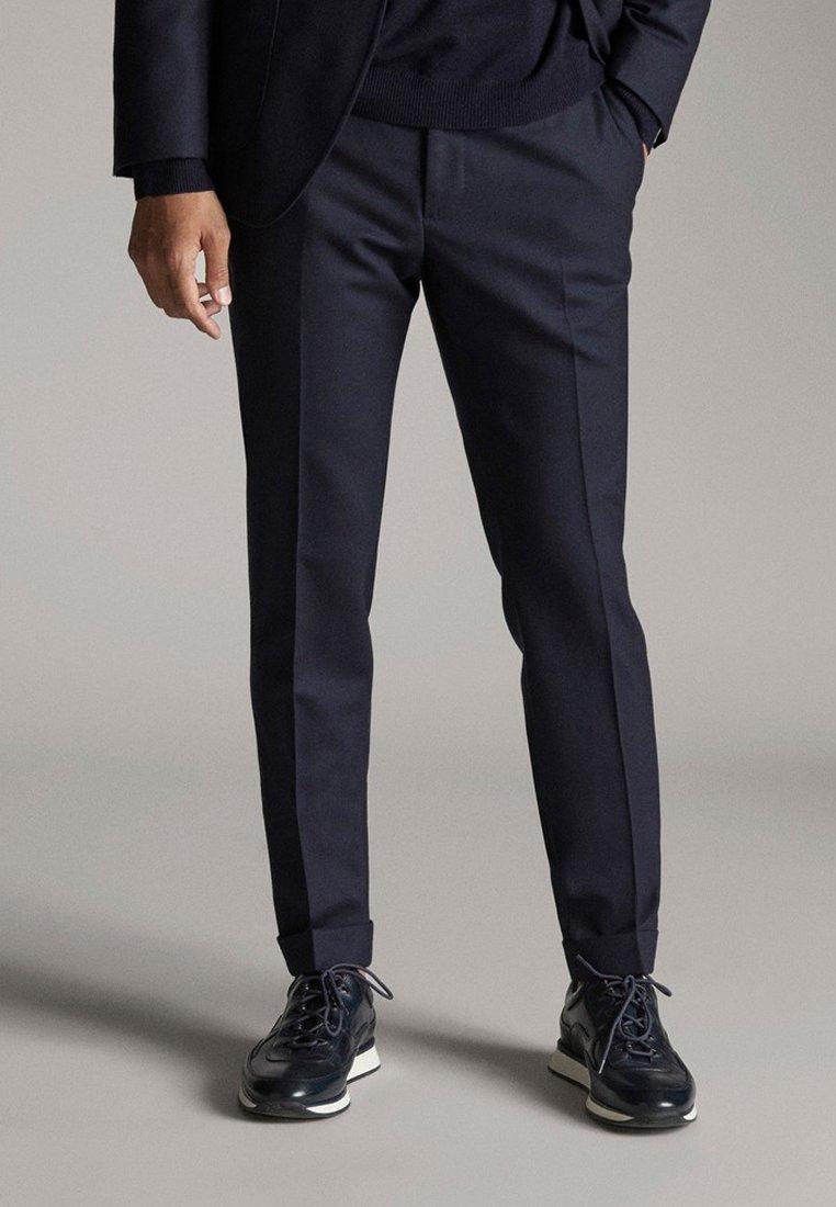 Massimo Dutti - SLIM FIT - Spodnie materiałowe - dark blue
