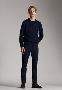 Massimo Dutti - Spodnie materiałowe - dark blue - 1