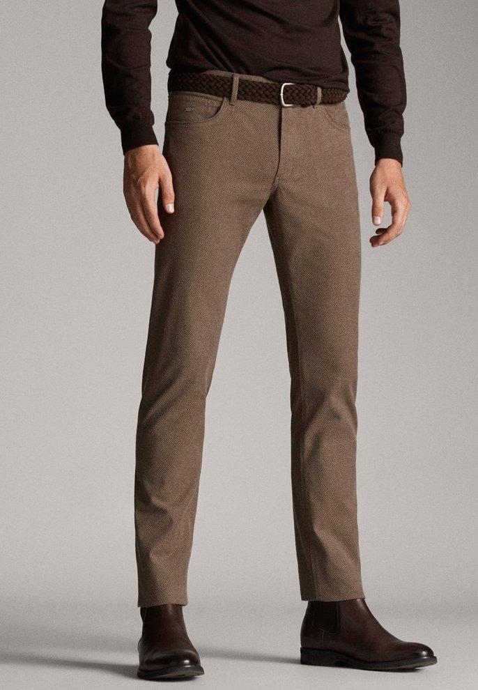 Massimo Dutti - Spodnie materiałowe - brown