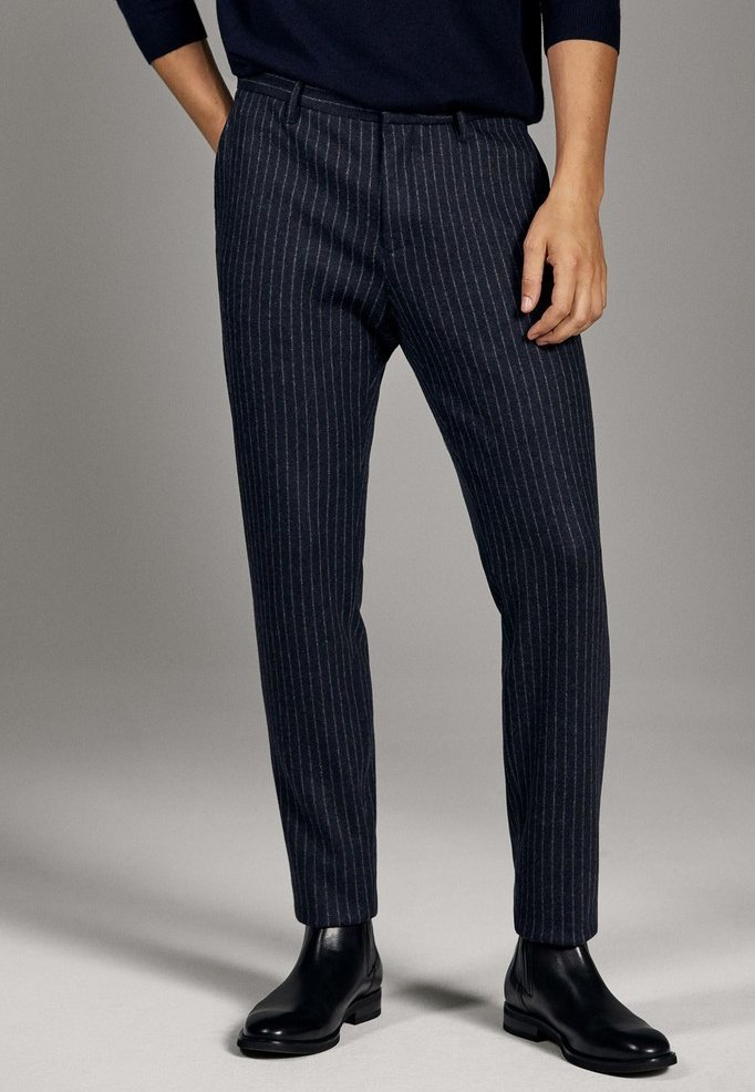 Massimo Dutti - CAMPAIGN COLLECTION - Trousers - blue
