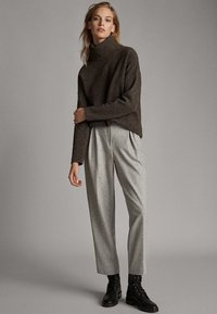 Massimo Dutti - Pantalon classique - mottled gry - 1