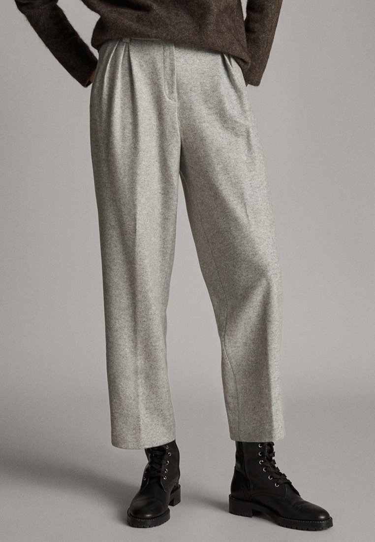 Massimo Dutti - Trousers - mottled gry