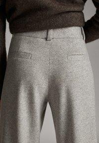 Massimo Dutti - Pantalon classique - mottled gry - 5