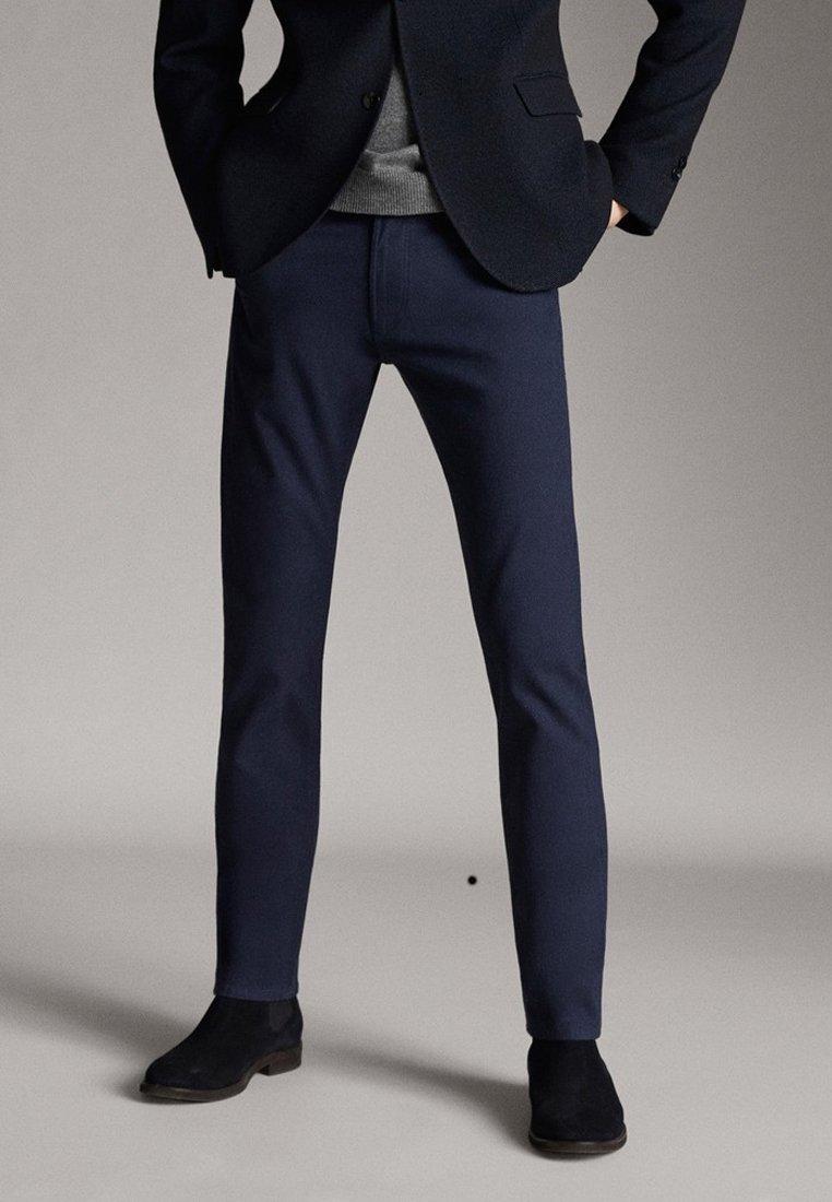 Massimo Dutti - Jeansy Slim Fit - blue