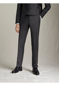 "Massimo Dutti - KARIERTE SLIM-FIT-HOSE AUS WOLLE ""SUPER 120"" 00063336 - Pantaloni eleganti - grey - 0"