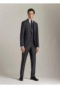 "Massimo Dutti - KARIERTE SLIM-FIT-HOSE AUS WOLLE ""SUPER 120"" 00063336 - Pantaloni eleganti - grey - 3"