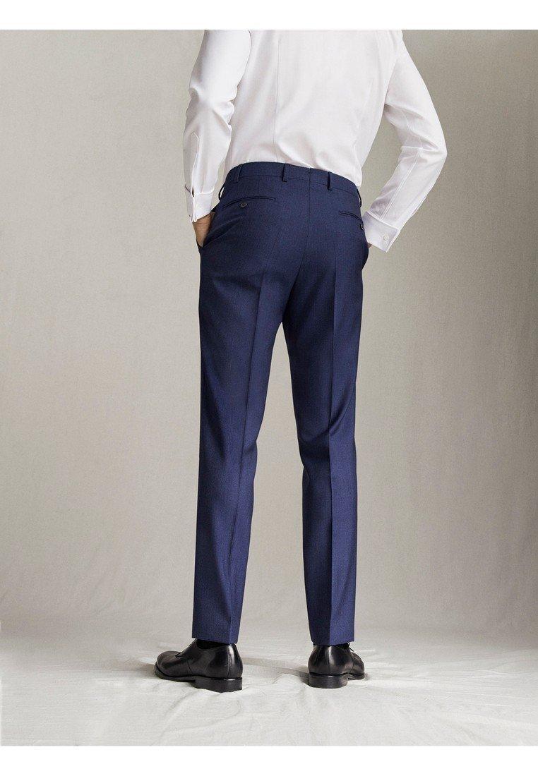 "Nice Men's Clothing Massimo Dutti MARINEBLAUE SLIM-FIT-HOSE AUS WOLLE ""SUPER 120"" MIT STRUKTURMUST Suit trousers blue ADTKtkQ1S"