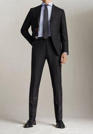 "SLIM-FIT-HOSE MIT DONEGAL-STRUKTUR AUS WOLLE ""SUPER 130"" 0006033 - Suit trousers - dark grey"