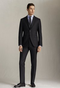 "Massimo Dutti - SLIM-FIT-HOSE MIT DONEGAL-STRUKTUR AUS WOLLE ""SUPER 130"" 0006033 - Pantaloni eleganti - dark grey - 3"