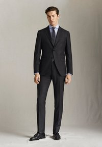 "Massimo Dutti - SLIM-FIT-HOSE MIT DONEGAL-STRUKTUR AUS WOLLE ""SUPER 130"" 0006033 - Pantaloni eleganti - dark grey - 1"