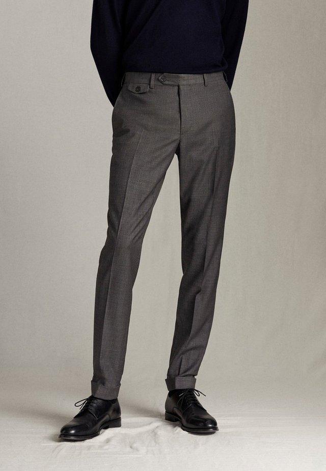 HOSE AUS WOLLE IM CITY-SLIM-FIT 00077313 - Suit trousers - grey