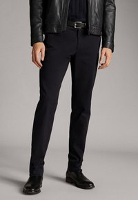 Massimo Dutti - NAVY COTTON TWILL TROUSERS 00061254 - Broek - blue - 0