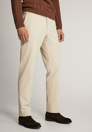 SLIM FIT COTTON TWILL TROUSERS 00063254 - Pantaloni - beige