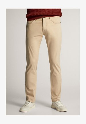 Slim fit jeans - ochre
