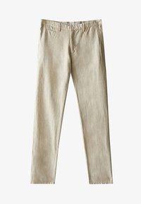 Massimo Dutti - SLIM-FIT - Spodnie materiałowe - beige - 6