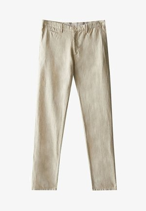 SLIM-FIT - Trousers - beige