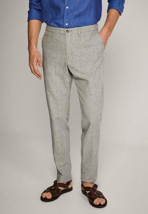 SLIM-FIT - Trousers - light grey