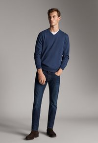 Massimo Dutti - STONE - Slim fit jeans - blue - 1