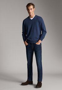 Massimo Dutti - STONE - Slim fit jeans - blue - 3