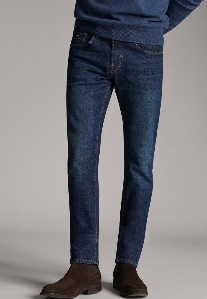 Massimo Dutti - STONE - Slim fit jeans - blue