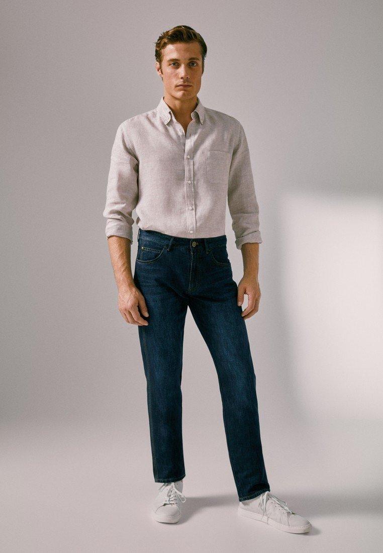 Massimo Dutti - Jeans a sigaretta - blue