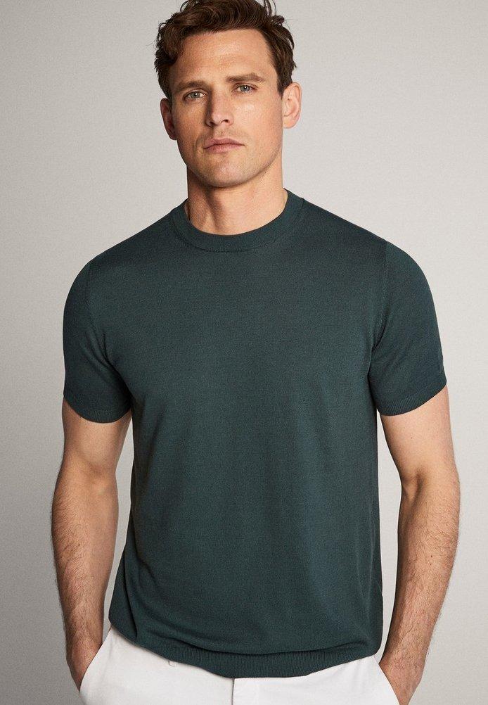 Massimo Dutti - IM CITY - Basic T-shirt - green