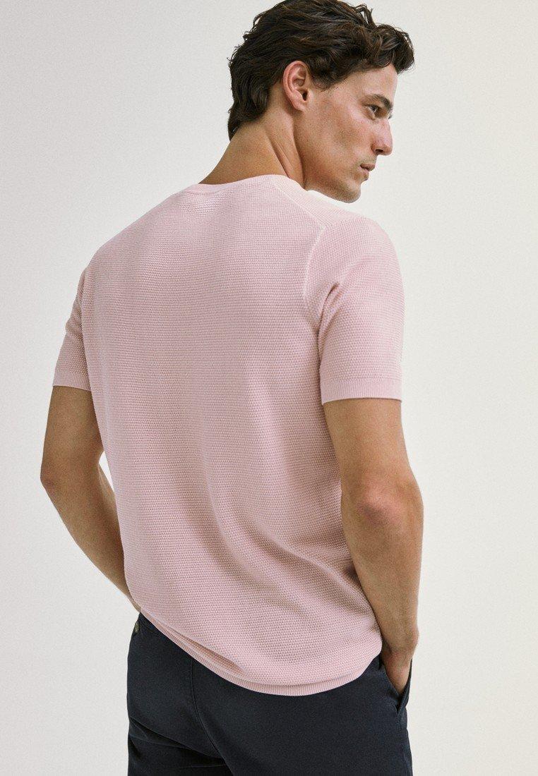 Massimo Dutti T-shirt Basique - Neon Pink YPjBZF4