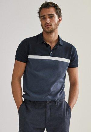KURZÄRMELIGER  - Poloshirt - blue-black denim