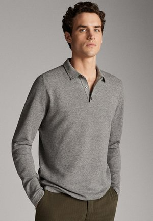 COTTON/SILK/CASHMERE POLO SWEATER 00906440 - Poloshirt - grey