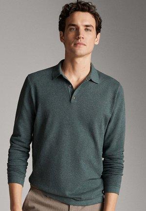 COTTON/SILK/CASHMERE POLO SWEATER 00906440 - Poloshirt - green