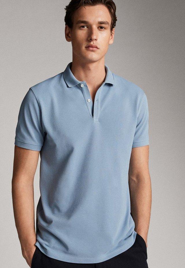 KURZÄRMELIGER  - Polo shirt - blue