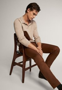 Massimo Dutti - BAUMWOLLPULLOVER IM POLO-STIL MIT RUNDAUSSCHNITT 00924453 - Polo shirt - beige - 4
