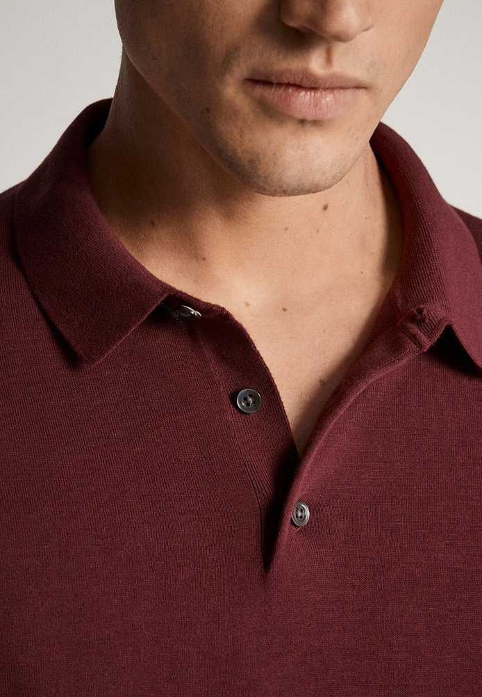Massimo Dutti Polo shirt - red