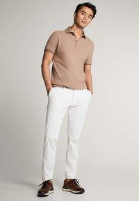 Massimo Dutti - MIT DOPPELKRAGEN - Polo shirt - light grey - 1