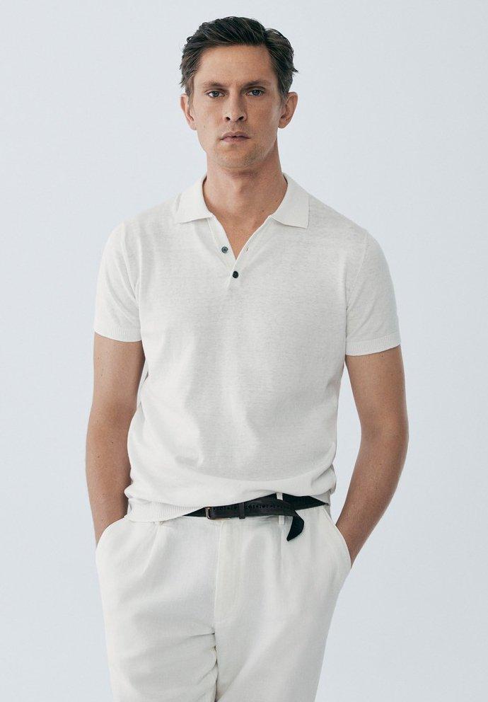 Massimo Dutti LIMITED EDITION - Koszulka polo - white